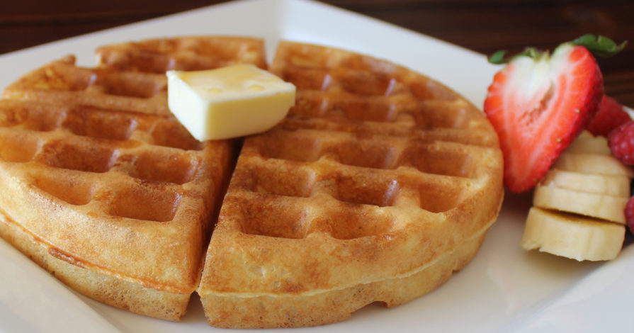 Yeast Waffles - Pour your ½ C of warm water in the mixing bowl and just sprinkle the yeast over top.
