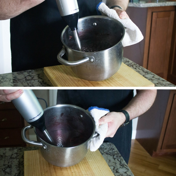 Blueberry Barbecue Sauce - Blend with a stick blender