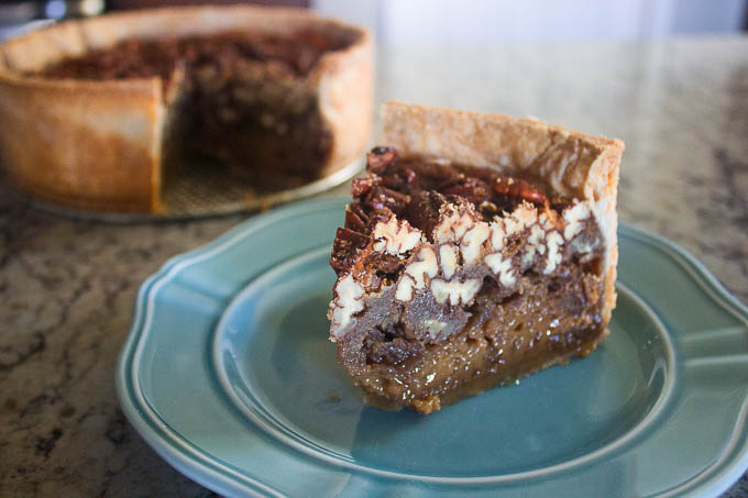 If you're a pecan pie fan, no pecan pie will satisfy you after this one. Flaky crust, gooey bottom and crunchy pecan top. Get your slice quick before it's all gone!