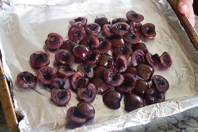 Smoke the cherries at a low temperature of between 150F and 170F for about 45 minutes.