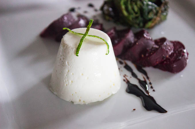I like pairing mine with something earthy, like a roasted beet salad. but it hols up very well to proteins as well. You could also substitute other soft cheeses like a bleu and put it with a steak...no matter how you eat it, enjoy it!