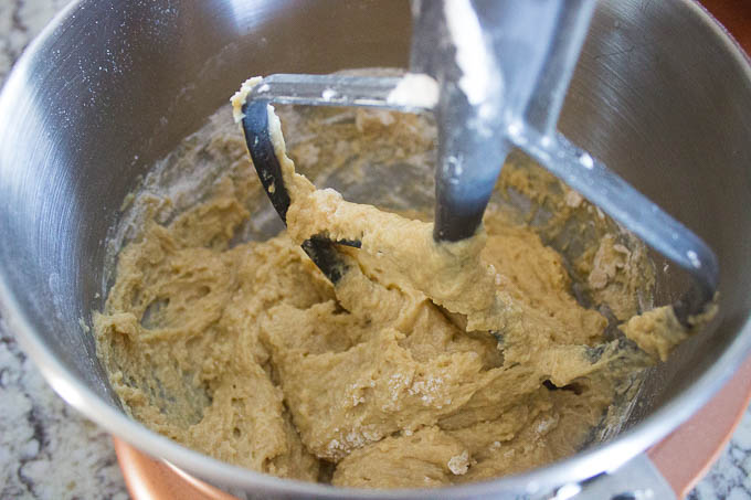 Whisk together your dry ingredients and add it a little at a time until completely incorporated.