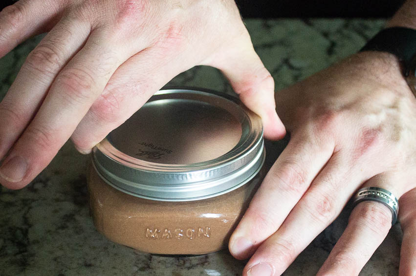 Put the lids on fingertip tight so air can escape while cooking.